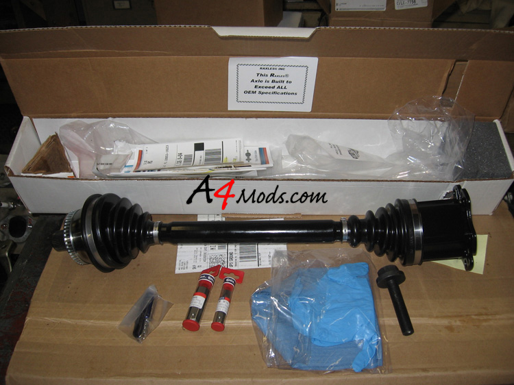 B6 Audi A4 - Front Axle Replacement Raxles.com