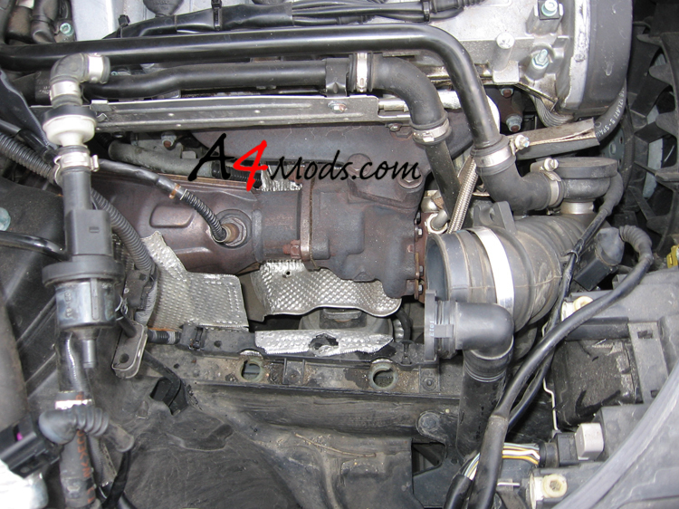 B6 Audi A4 - Big Turbo Upgrade Install APR Stage 3 exhaust manifold